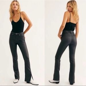 NEW Free People Spellbound Black Coated Jeans 32
